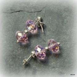 49. Kolczyki różowe kryształki