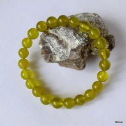 60. Bransoletka z oliwkowego jadeitu