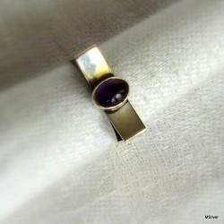 51. Srebrny pierścionek z ametystem