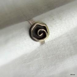 "53. Srebrny pierścionek ""różyczka"""
