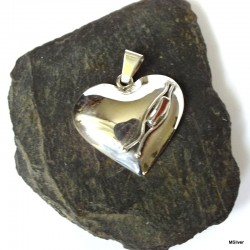 343. Srebrny wisiorek -serce