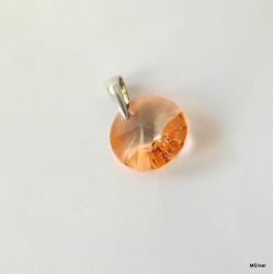 354. Wisiorek -łososiowy kryształ