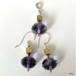 58. Komplet biżuterii z fioletowym kryształem