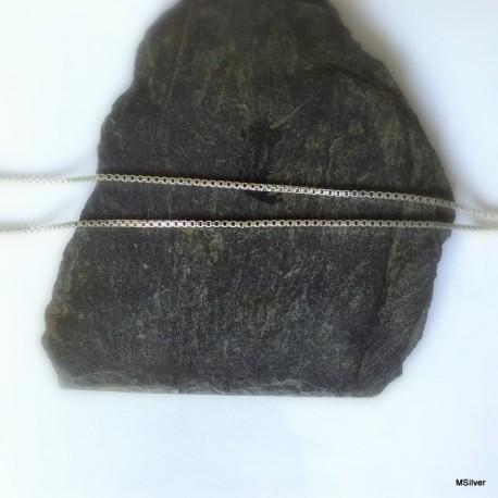 247. Łańcuszek srebrny-kostka