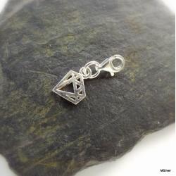 204. Srebrna przywieszka do bransoletki-charms-diament