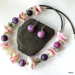 12.Komplet biżuterii z sugilitu