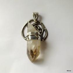 1. Srebrny wisiorek z kryształem górskim