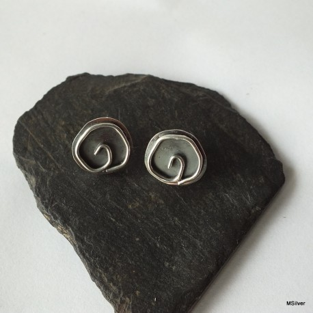326. Kolczyki srebrne - różyczki