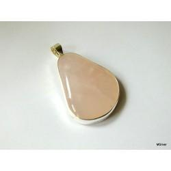 18. Srebrny wisiorek z różowym kwarcem