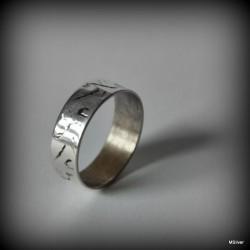 Srebrny pierścionek - obrączka