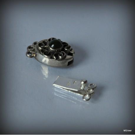 Srebrne zapięcie do bransoletki lub naszyjnika